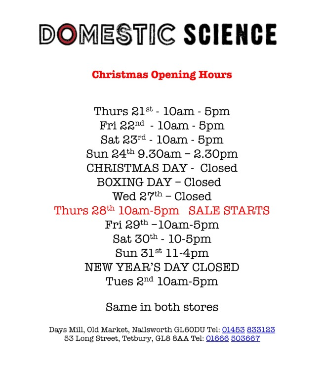 Chrismtas Opening Hours 2018